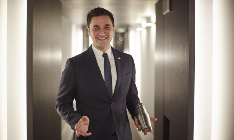 Mattia Pastori from Pavia: he will be the bar manager