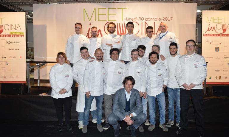 The chefs at Meet in Cucina. Romito is the only one missing