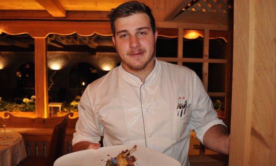 Matteo Metullio,Ciasa Salaresin Alto Adige, two stars at 28