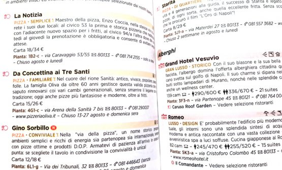 Pizzerias in the 2018 Michelin Guidein the pages dedicated to Naples