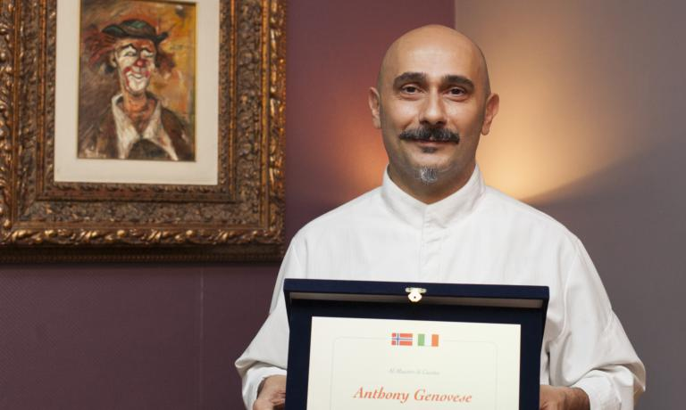 Anthony Genovese chef at Il Pagliaccio is the new ambassador of Norwegian stockfish, after Felice Lo Basso. We report on the prize giving ceremony, the following dinner and a beautiful lunch a few days earlier