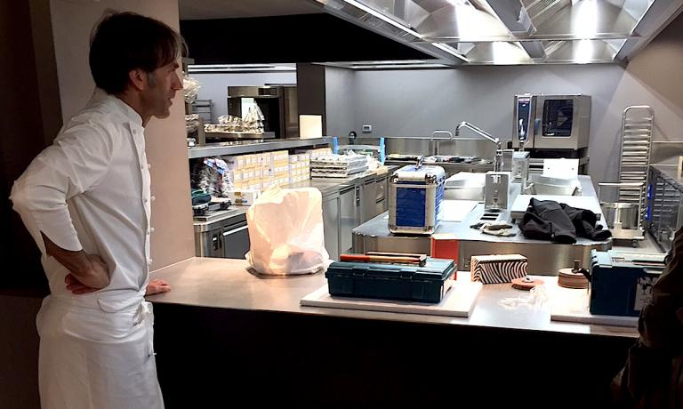 The first thing Davide Oldanishowed with pride, as soon as we entered the new location for his restaurant, which will be called simply D'O, no longer D'O La tradizione in cucina, was the new kitchen. It couldn't be otherwise. For a cook the place housing ovens and stoves is the heart of a restaurant
