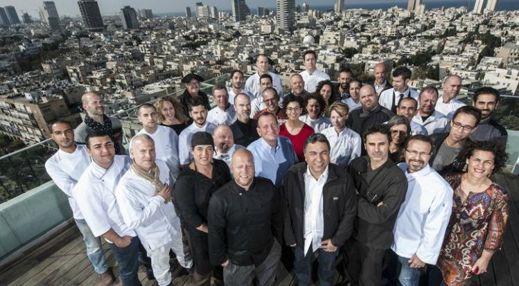 Group photo with the creative chefs from Tel Aviv participating in Open Restaurants