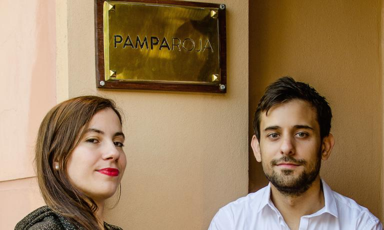 Flo and Mariano Braga, wife and husband, patrons at restaurant Pampa Roja in Santa Rosa, the capital of La Pampa province in Patagonia