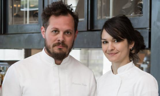 Brutto with Chiara Pavan, his sous at Venissa