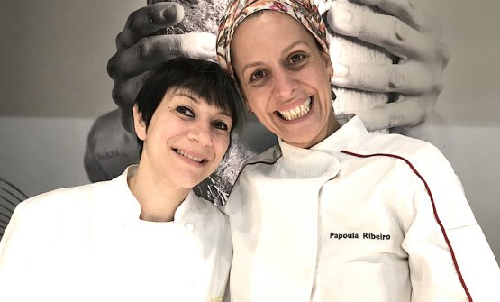 Roberta Pezzella and Papoula Ribeiro, the ladies of bread, the former Italian, the latter Brazilian