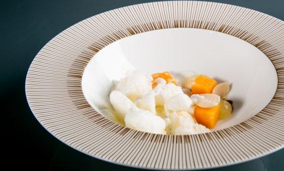 Almond, melon and yuzu