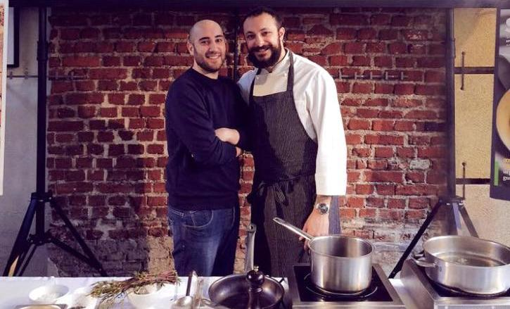 Pietro Caroli, left, and Diego Rossi: together they will open Trattoria Trippa, in Porta Romana, Milan, at the beginning of May