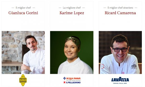 Gianluca Gorini,Karime LopezandRicard Camarena, 3 of this year'sawarded chefs