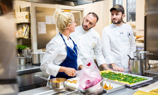 Ana Roš,Alessandro Rinaldiand our pastry chefGabriele Tangari