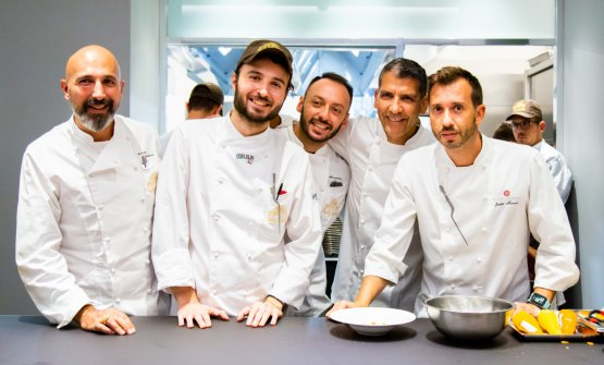 Andrea Ribaldone,pastrychef Gabriele Tangari, Alessandro Rinaldi, Paco Roncero, Javier Alonso
