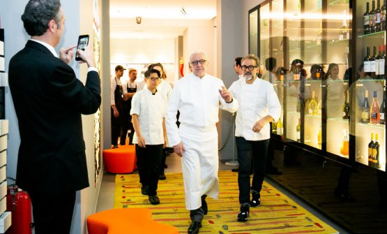 Alain Ducasse and Massimo Bottura at Identità Golose Milano. Photos from Sonia Santagostino