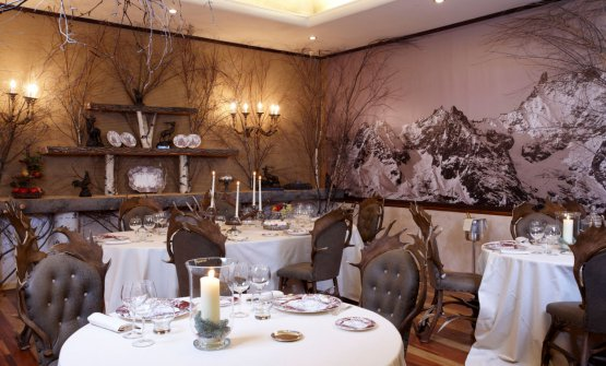 The dining room at Petit Royal, the hotel's gourmet restaurant