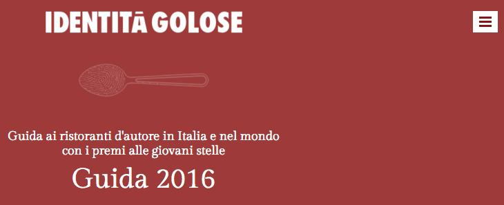 Today, Monday 26th October, the first totally online edition (the ninth overall) of our Guida ai Ristoranti di Identità Golose 2016 is out, on www.guidaidentitagolose.it. The paper edition disappears, Paolo Marchi and Claudio Ceroni explain, replaced by a channel we've always believed in. A new guide, both in terms of content and shape