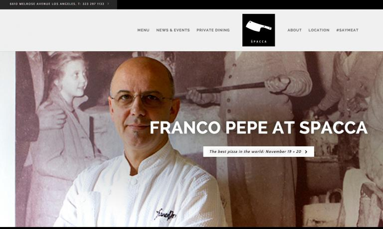 Spacca�s website, the establishment owned by Nancy Silverton, Mario Batali and Joe Bastianich, shows a large photo of the event that had Franco Pepe as its protagonist for nine days