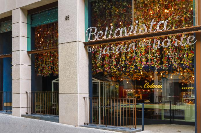 The entrance to restaurant Bellavista del Jardín del Norte in Barcelona, a 1,000 square metre site created by the Iglesias brothers, a group of companies led by the family of Argentinian footballer Lionel Messi. With its different settings, this theme park recreates an imaginary remote Spanish village with corners serving different types of cuisine