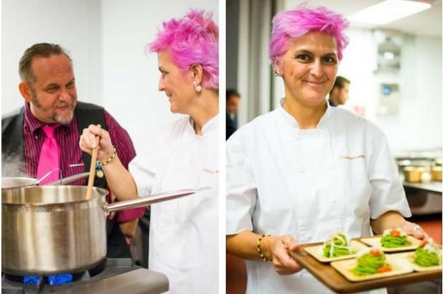 Cristina Bowerman, from Los Angelesto Santiago del Chile, via Rome (in the photo, taken from Foodiamo, she's in California)