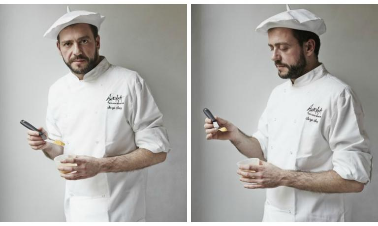 "Sergio Sanz Blanco, the executive chef at Ametsa (which means ""dream"" in Basque)"