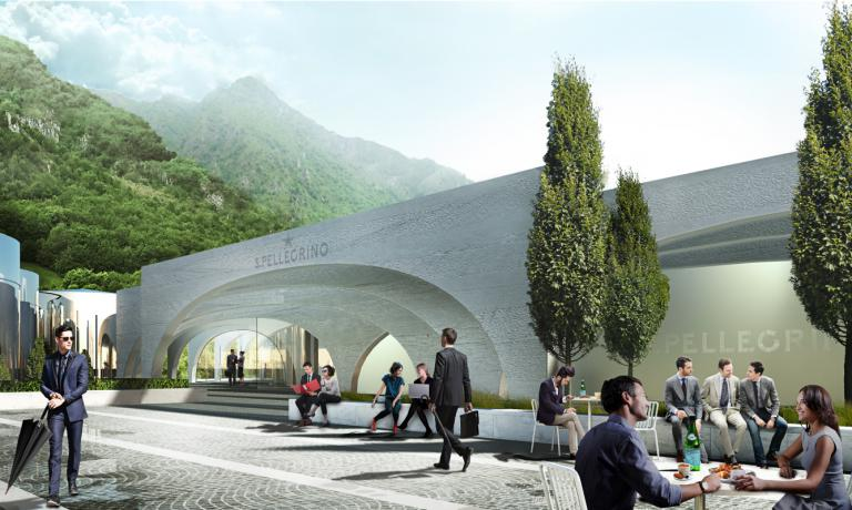 Arches will be the dominating element in the renewed headquarters of S.Pellegrino in San Pellegrino Terme