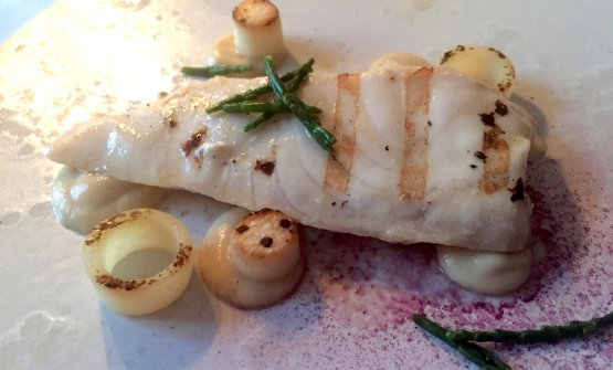 Grilled sturgeon at restaurant Moroshka for Pushkin