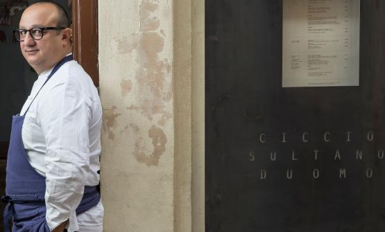 Ciccio Sultano, chef at restaurant Duomo, two Michelin stars