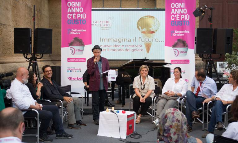 Within Sherbeth, there were also more cultural moments, such as the one with Roberto Lobrano, president of Gelatieri per il Gelato, and his guests