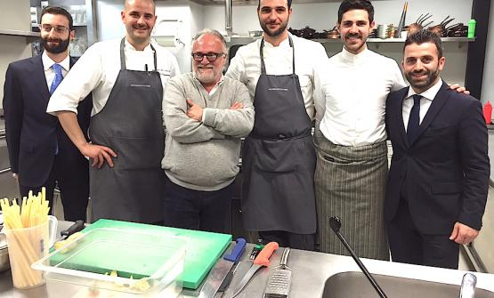 The team at resort Vallefredda, left to right: Samuele Florio, Daniele Di Domenicantonio, patron Antonello Colonna, Enrico Betti, Matteo Del Brusco, and finally Fabio Pelliccia