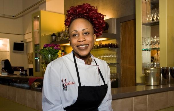 "Victoire Bouna Gouloubi, from Congo, owner, since February 12th 2014 of restaurant Victoire, in via Accademia 56 in Milan. She is one of the 10 people who from January 12th till the 16th will liven up the ExpoGate (in front of the Sforza Castle in Milan) during ""La cucina internazionale a Milano"" [International cuisine in Milan], a series of events conceived in collaboration with Identit� Golose. Free entrance"