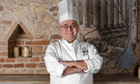 Vincenzo Di Grande, chef at the new Osteria del Guà in Lonigo (Vicenza)