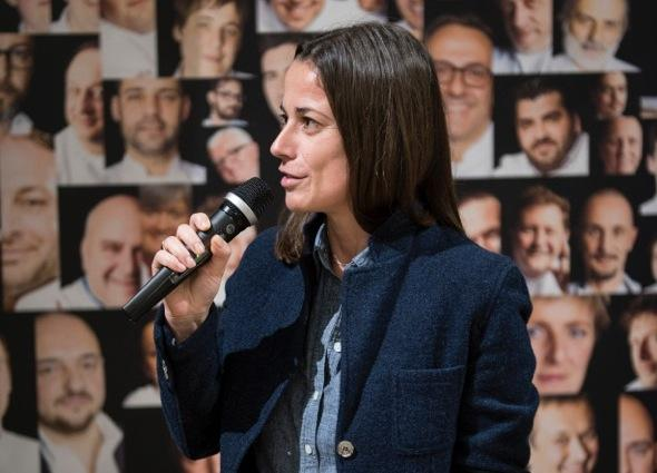 Laura Lazzaroni, awarded one week ago at Eataly Smeraldo in Milan as Journalist of the Year according to Guida ai ristoranti di Identit� Golose 2015. The editor in chief of L'Uomo Vogue, with a long experience in the United States, questioned herself on the role of the future food critic (photo by Brambilla-Serrani)