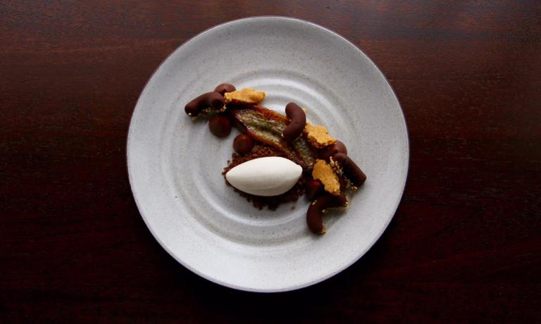Another dessert from Welker, with chocolate and banana (photo EMP)
