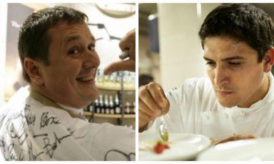 <p><b>Emanuele Scarello</b> e <b>Mauro Colagreco</b></p>