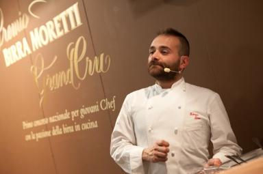Fabrizio Tesse allo stand Birra Moretti