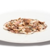 Veal in tuna sauce with hazelnuts, tuna bottarga and coffee