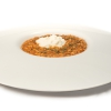 Risotto with tomato sauce, burrata and wild oregano