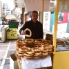 Breakfast with koulouri: you can find it all over town, we've chosen a kiosk between Korai and Stadiou, a stone's throw away from the university and not far from Psiri, the market area