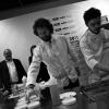 Carlo Cracco e Matteo Baronetto sul palco della Sala Blu