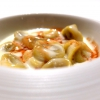 Tortellini with tamarind, double cream and angustura: a beautiful overturning of a traditional dish