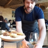 Rene Redzepi himself presents the content of the first Seafood platter.