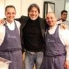 Scarselli con i due De Simone qualche anno fa a Identità Milano