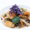 Fried rice gnocchi with mixed mushrooms, scallops and purple potatoes by Keisuke Koga (photo by Aromicreativi)
