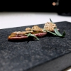 Our dinner at Stube Gourmet, depicted by Tanio Liotta. We start with Duck breast, pumpkin mostarda, sesame wafer and tarragon