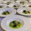The dishes from the dinner at Baffo: Water garden by Heinz Beck