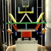At the entrance, the Carlton library by Ettore Sottsass, a great designer, founder of the  Memphis Group. In fact, it is entirely made in sugar, the work of artist Marco Chiurato