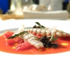 Squilla mantis, tomato water and dry verbena from Gianluca Gorini (photo by Tanio Liotta)