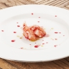 Prawn, strawberry seed oil and Campari by Riccardo Camanini (photo by Brambilla-Serrani)