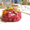 Fassona tartare with porcini acqua cotta by Carlo Porcu (photo by Tanio Liotta)