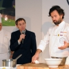 Carlo Cracco, from Cracco restaurant in Milan with British journalist Nigel Barden