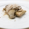 Tony Mantuano's Gluten Free Crescenza Ravioletto with Grano Padano, Porcini Mushroom Butter Sauce and White Truffle