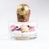 The sweets begin:Winter sphere, ricotta and mandarin with darjeeling teaand, in the photo,Babà in sospensione al cacao e rhum, orzata e ghiacciato alla banana
